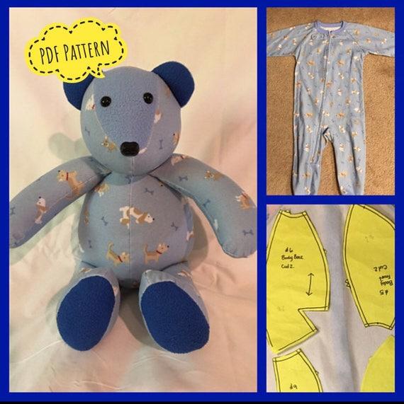 Memory Keepsake Bear Pattern Complete Instructions Pdf Etsy
