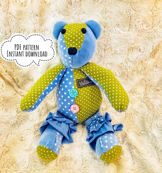 12 Memory Bear Pattern For A Pdf Pattern For A Keepsake Etsy