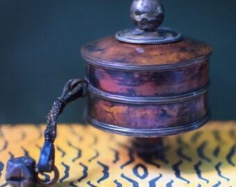 Vintage Tibetan Prayer Wheel Buddist Meditation Tool As Seen