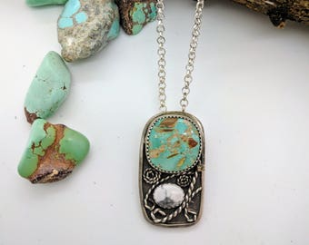 turquoise filigree sterling silver necklace