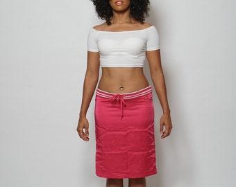 90's Miss Sixty Pink Satin Skirt