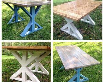 2d3bab8cc667b Custom Built X Leg Farm Table
