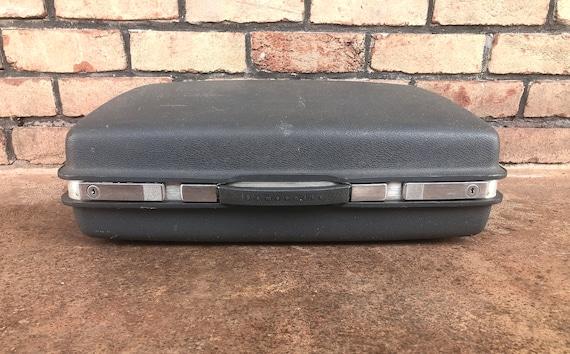 Vintage Grey Samsonite Luggage, Hard Side Suitcase