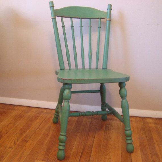 Ordinaire Custom Painted Distressed Wood Farm Chair Vintage Farmhouse | Etsy
