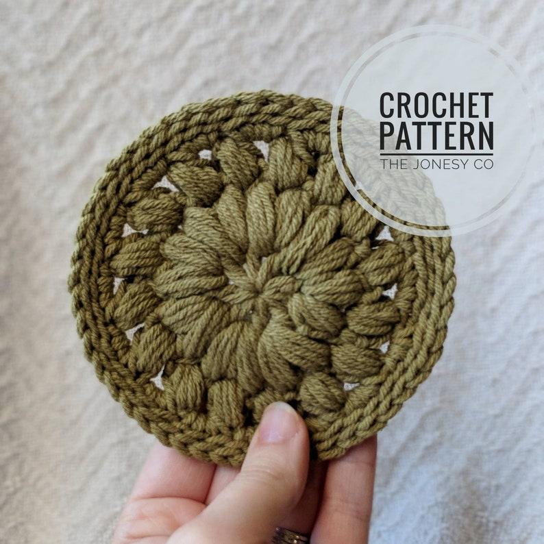 Crochet Pattern  Crochet Coaster Pattern  Easy Crochet image 0
