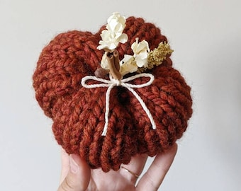 Rustic Pumpkin Decor | Decorative Pumpkin | Plush Knit Pumpkin | Fall Table Top Decor