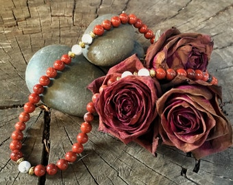 ROOT CHAKRA Red Jasper Necklace | Chakra Healing Jewelry for Grounding & Protection | Crystal Healing Yoga Necklace by Mayan Rose