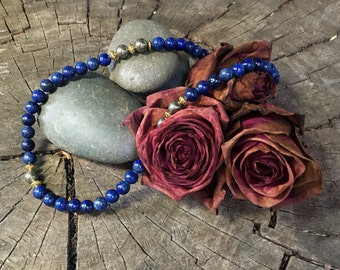 THROAT CHAKRA Lapis Lazuli Necklace | Fifth Chakra Healing Jewelry for Truth & Expression | Crystal Healing Yoga Necklace by Mayan Rose