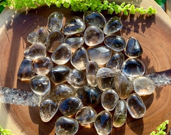 SMOKY QUARTZ (SMOKEY - Grade A Natural) Clear Tumbled Polished Stone Gemstone Rocks for Healing, Yoga, Meditation, Reiki, Jewelry Supplies
