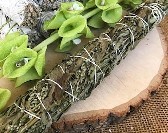 JUMBO BLACK SAGE Smudge Stick aka Mugwort | Large Sage Bundle | Meditation Altar, Home Cleansing, Positive Energy, Cleanse, Wicca Smudge Kit