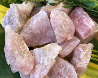 Raw ROSE QUARTZ Large (Grade A Natural) Rough Pink Crystal Stones Gemstone | Healing Yoga Meditation Reiki Wicca Jewelry Supply | Mayan Rose