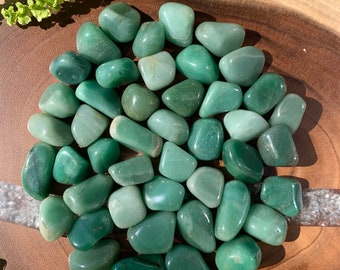 GREEN AVENTURINE (Grade A Natural) Tumbled Polished Stones Gemstone Rocks for Healing, Yoga, Meditation, Reiki, Crafts, Jewelry Supplies