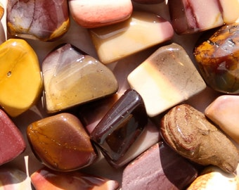 MOOKAITE (Grade A Natural) Tumbled Polished Stones Gemstone Rocks for Healing, Yoga, Meditation, Reiki, Wicca, Crafts, Jewelry Supplies
