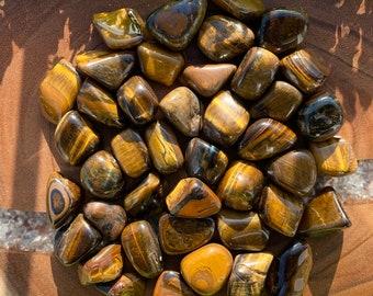 TIGER EYE (Grade A Natural) Premium Gold | Tumbled Polished Stones Gemstone Rocks for Healing, Yoga, Meditation, Reiki, Wicca, Crafts, J