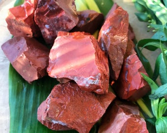 Raw RED JASPER Crystals | Rough Chunks for Crystal Healing, Yoga Reiki, Second Chakra, Spiritual, Wicca, Orange Red Gemstones, Root Chakra