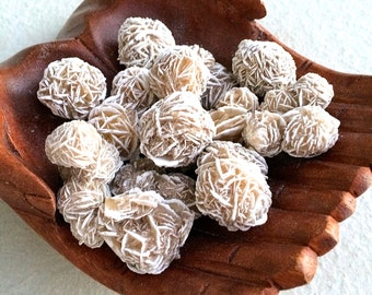 Desert Rose SELENITE Crystal Clusters (Grade A Natural) Gemstone Rocks for Healing, Yoga, Meditation, Reiki, Wicca, Crafts, Jewelry Supplies