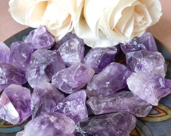 Raw AMETHYST Large (Grade A Natural) Rough Purple Quartz Crystal Stone, Gemstones for Healing, Yoga Meditation, Reiki, Wicca, Crafts Jewelry