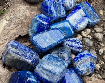 LAPIS LAZULI (PREMIUM Grade A Natural) Tumbled Polished Blue Crystals Stone Gemstone Crystal for Healing, Yoga, Meditation, Reiki, Wicca