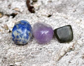 SAGITTARIUS Set of 3 Crystals - Sodalite, Labradorite, Amethyst   Gemstones   Astrology Zodiac, Meditation Yoga, November December Birthday