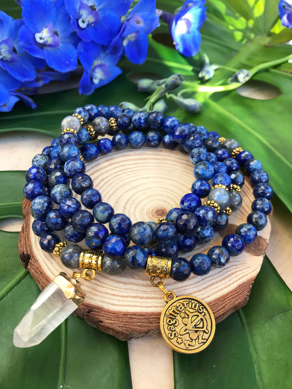 Sagittarius Zodiac Mala Beads 108 Bead Mala For December Birthday