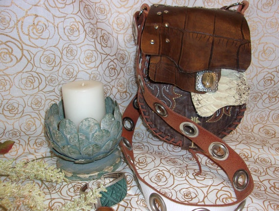 830754dcdc6 Small leather Purse, Cowboy Boot Purse, Stirrup Purse, Small Boho Purse,  Hand-Painted Purse, One-of-a-kind, Western Purse, from Cowboy Boots