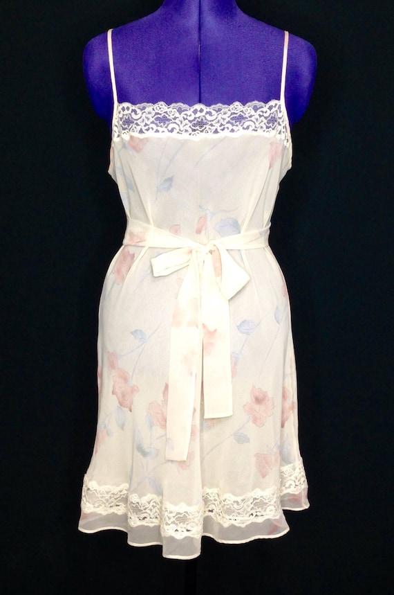 Valentino Chiffon Babydoll Nightgown- 1990s design