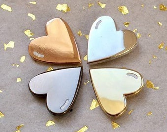 Tiny heart enamel pin little heart of gold, wedding party gift personalised, birthday gifts for her | Christmas gifts for her