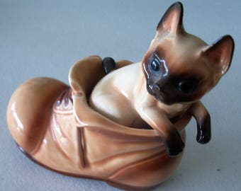 Siamese cat shoes   Etsy