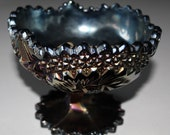 Fenton Carnival Glass Iridescent Footed Bowl Compote