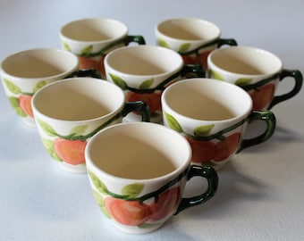 Franciscan China Fresh Fruit USA Set Of Eight Cups