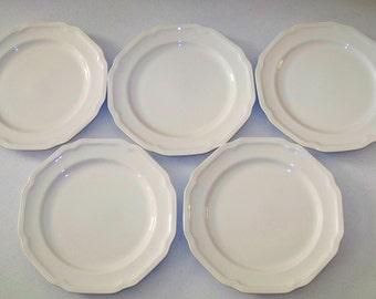 Mikasa Ultima Antique White Vintage Set Of Five Salad Plates