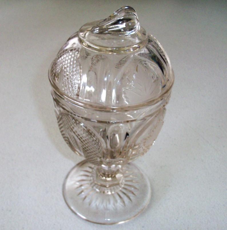 Metropolitan Museum Art Imperial Glass Flint MagnetGrape Pattern Compote