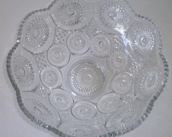 Heisey Sunburst Punch Bowl