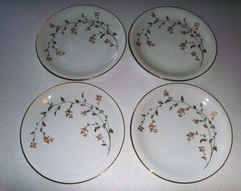 Noritake Florence Set Of Four Dinner Plates