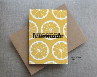 Cheer up Card, 'When life gives you lemons' card, Thinking of you Card, Best Wishes Card