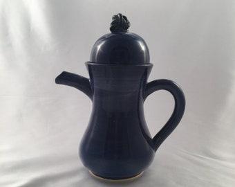Dark blue tea/coffee set for two
