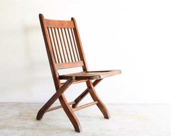Childs Chair, Antique Childs Chair, Kids Chair, Kids Wood Chair, Antique  Childu0027s Wooden Deck Or Theater Chair W/ Wonderful Rustic Character