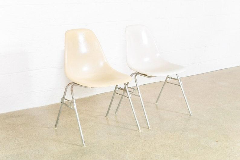 Mid Century Chair, Original Eames Herman Miller DSS Fiberglass Shell Chair,  Mid Century Modern, Vintage