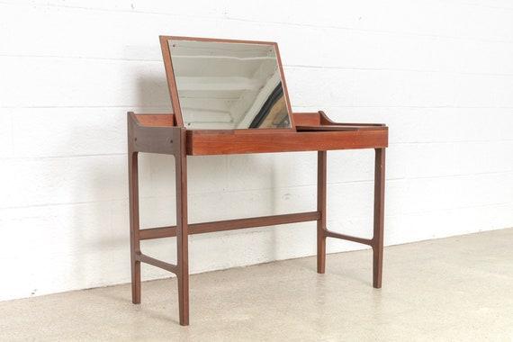 Mid Century Vanity Table Desk Danish Modern Teak Vanity Etsy
