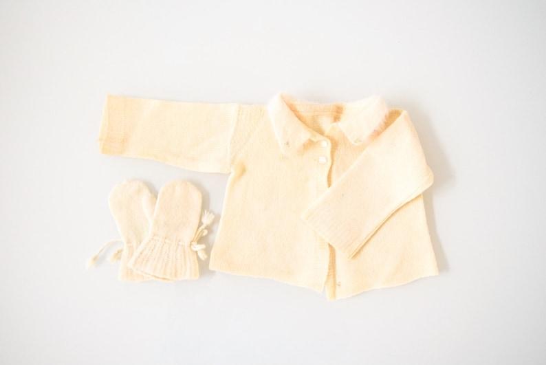 newborn sweater and mittens vintage baby sweater set baby sweater beautiful hand knit vintage baby sweater and mitten set baby mittens