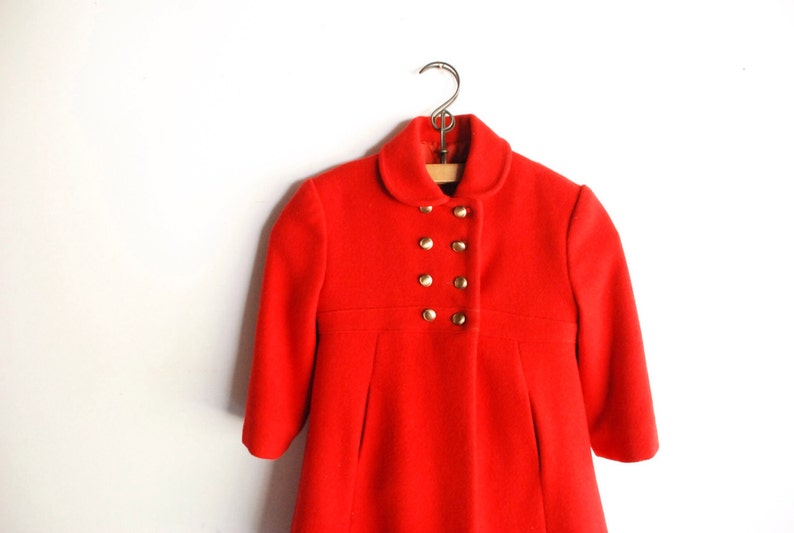 912bd8993b0a Vintage girl s wool coat childs wool coat beautiful