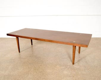 Mid Century Coffee Table, Mid Century Modern American of Martinsville Walnut Coffee Table, Vintage
