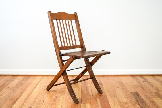 image 0 - Folding Chair Wood Folding Chair Wooden Chairs Antique Wood Etsy