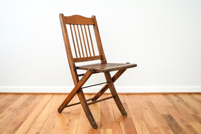 Antique Wooden Chairs >> Folding Chair Wood Folding Chair Wooden Chairs Antique Wood Etsy
