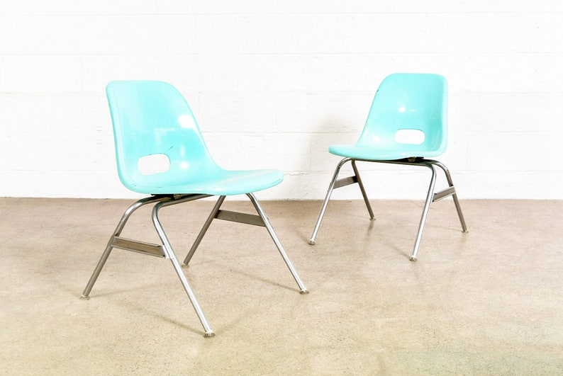 Ordinaire Childu0027s Chair, Mid Century Childu0027s Chair, Mid Century Modern Blue Krueger  Fiberglass Shell Childrenu0027s Chair, Vintage, 16 Chairs Available
