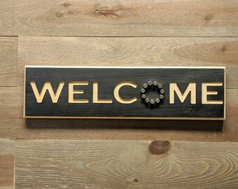 Welcome Sign, Wood Welcome Sign, Welcome Sign Front Door, Front Door Welcome Sign, Welcome Sign Front Porch, Rustic Wood Welcome Sign