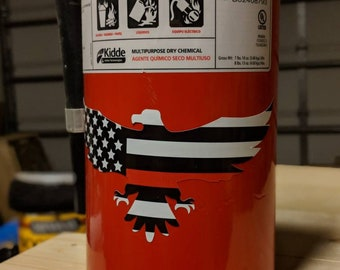 Thin Red Line Firefighter vinyl Eagle  Sticker