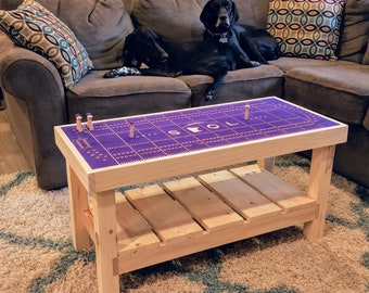 Football themed Cribbage Coffee Table, two player game board
