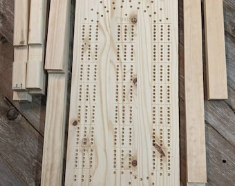 DIY Cribbage Board Coffee Table with Cribbage Pegs KIT Cabin Furniture, Do It Yourself table