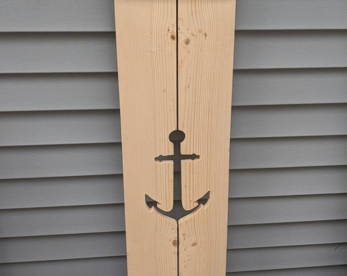 Exterior Shutter with anchor cutout: Customize your shutter height, to fit your windows